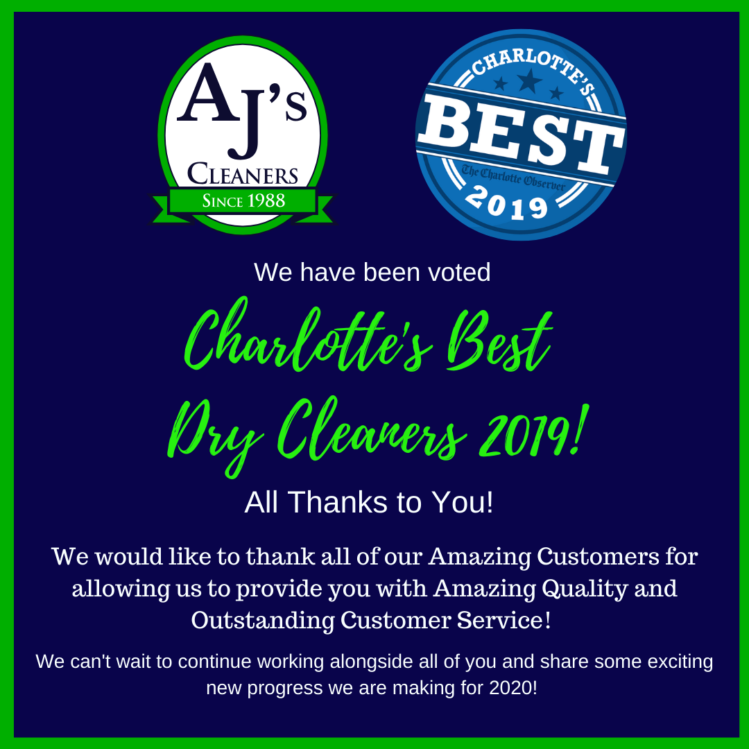 Best of Charlotte 2019 - Best Dry Cleaner Charlotte NC